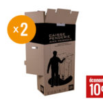 Cartons penderie lot de 2
